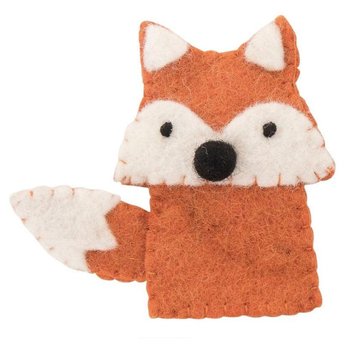 Pashom Nepal Felt Finger Puppet - Fox - Tea Pea Home