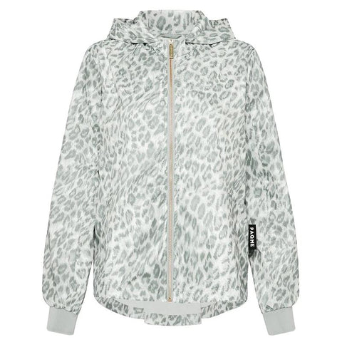 Paqme Women's Crop Recycled Raincoat - Leopard Smudge Clothing Paqme