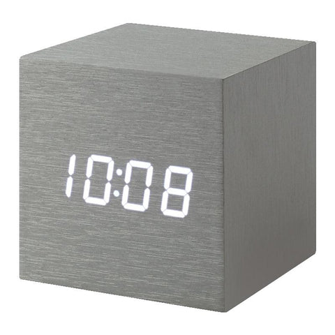 MoMa Cube Clock - Alume - Tea Pea Home