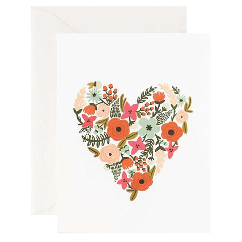 Rifle Paper US Card - Floral Heart - Tea Pea Home