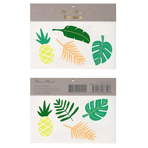 Meri Meri UK Temporary Tattoo Set - Tropical Leaves