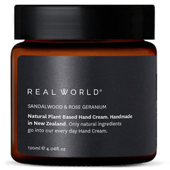 Real World NZ Hand Cream - Sandalwood & Rose Geranium - Tea Pea Home