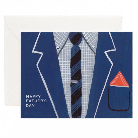 Rifle Paper US Card - Father's Day Suit Blue - Tea Pea Home