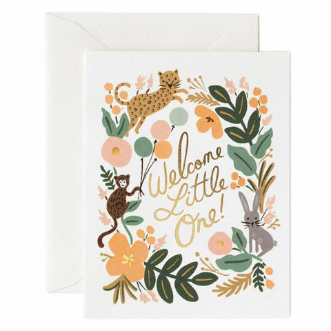 Rifle Paper US Card - Menagerie Baby - Tea Pea Home