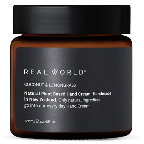 Real World NZ Hand Cream - Coconut & Lemongrass - Tea Pea Home