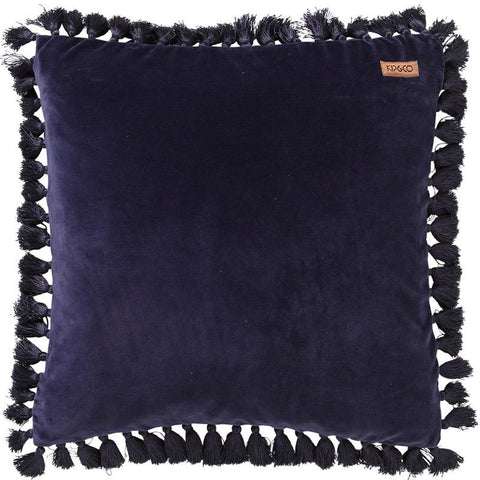 Kip & Co Cushion - Velvet Tassel Navy - Tea Pea Home