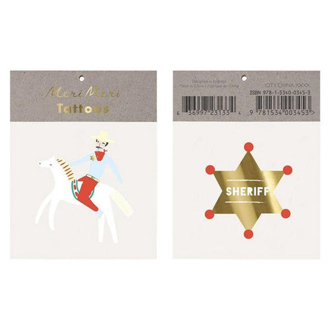Meri Meri UK Temporary Tattoo Set - Sheriff