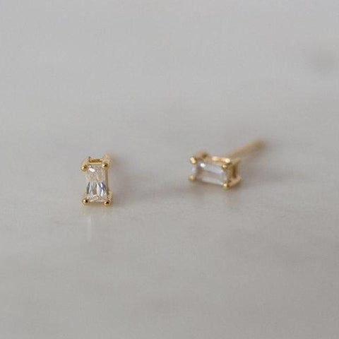 Sophie Earrings - You Rock Rectangle Studs - Tea Pea Home