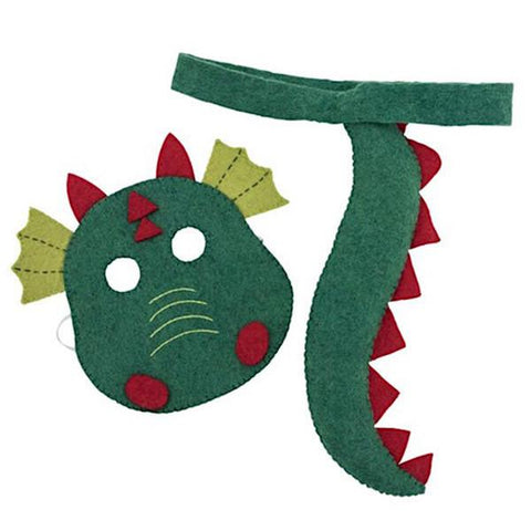 Pashom Nepal Felt Dress Up Mask & Tail Set - Dragon - Tea Pea