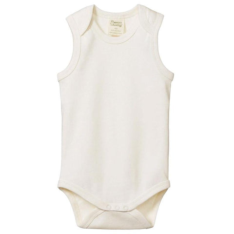 Nature Baby Organic Cotton Singlet Bodysuit - Natural - Tea Pea Home