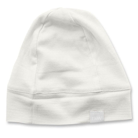 Roots & Wings NZ Organic Merino Beanie - Natural - Tea Pea