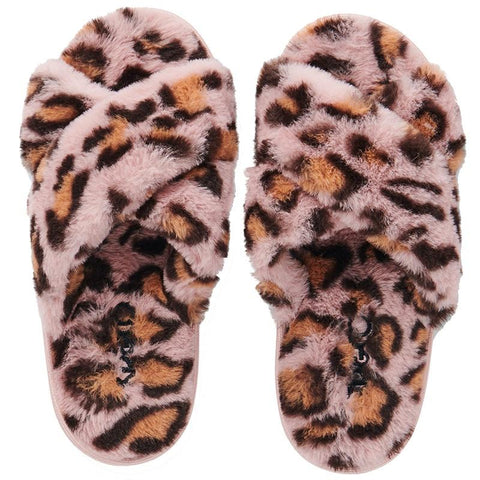 Kip & Co Adult Slippers - Pink Cheetah - Tea Pea Home