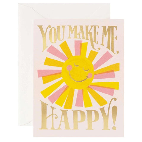 Rifle Paper US Card - You Make Me Happy - Tea Pea Home