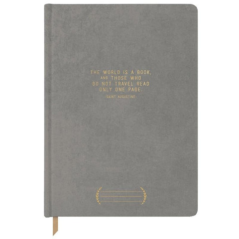 Designworks Ink Nashville Cloth Suede Journal - The World is a Book - Tea Pea Home