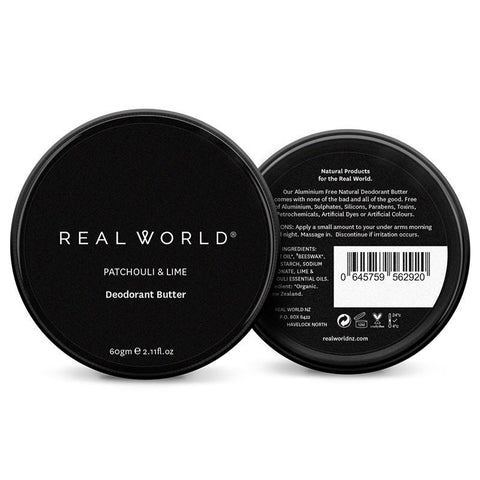 Real World NZ Deodorant Butter - Patchouli & Lime - Tea Pea Home