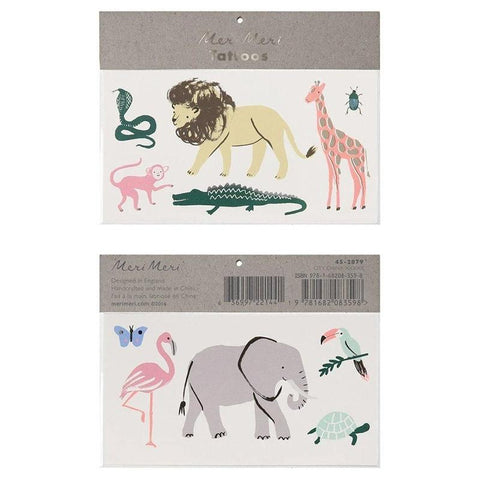 Meri Meri UK Temporary Tattoo Set - Safari Trek - Tea Pea Home