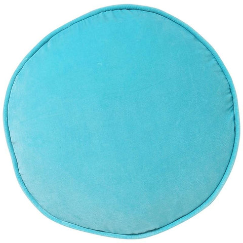 Kip & Co Velvet Pea Cushion - Turquoise Blue - Tea Pea Home