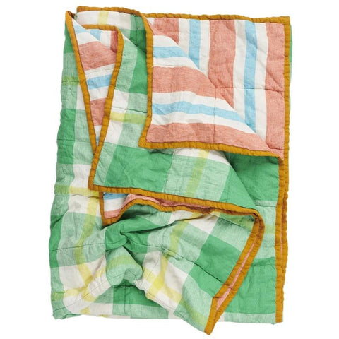 Society of Wanderers Quilt - Zest & Candy Stripe - Tea Pea Home