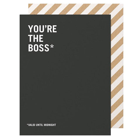 Made Paper Co Card - You're the Boss - Tea Pea Home