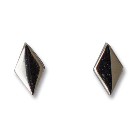 Sophie Earrings - Diamond Stud Sterling Silver