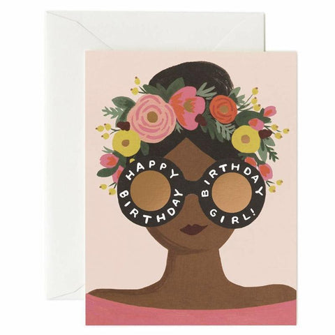 Rifle Paper US Card - Flower Crown Birthday Girl - Tea Pea Home