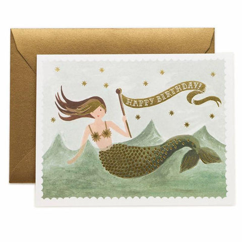 Rifle Paper US Card - Vintage Mermaid Birthday - Tea Pea Home
