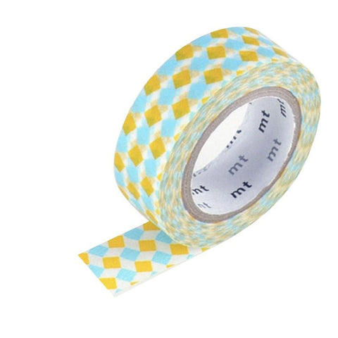 Kamoi Kakoshi Japan MT Washi Tape - Square Yellow 15mm - Tea Pea