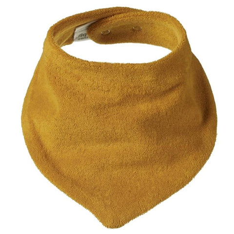 Nature Baby Organic Cotton Triangle Bib - Honey - Tea Pea Home