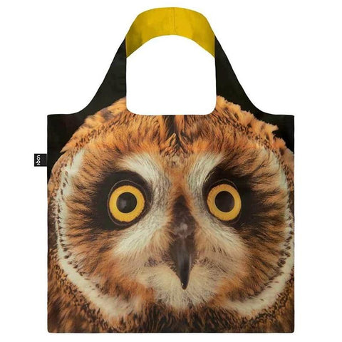Loqi Berlin Reusable Shopping Bag - National Geographic Collection Short-eared Owl - Tea Pea Home