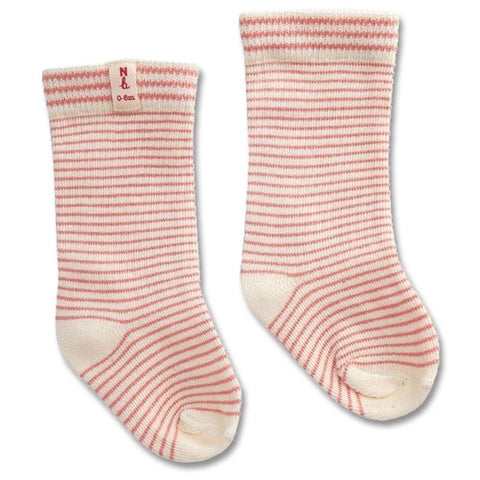 Nature Baby Organic Cotton Socks - Pink Stripe - Tea Pea Home