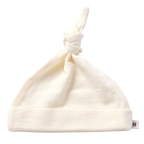Nature Baby Merino Knotted Beanie - Natural - Tea Pea