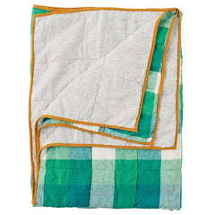 Society of Wanderers Quilt - Apple Check & Pinstripe - Tea Pea Home