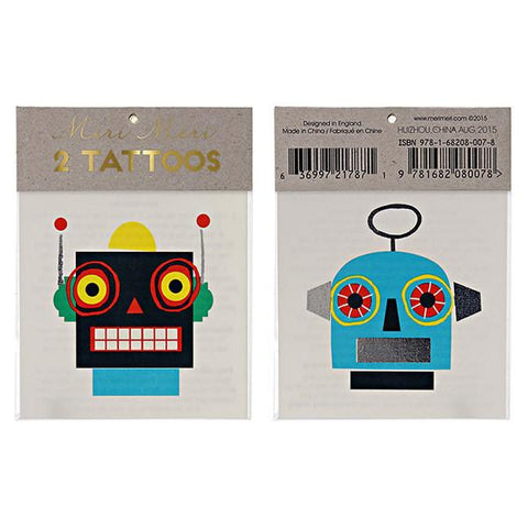 Meri Meri UK Temporary Tattoo Set - Robots - Tea Pea Home