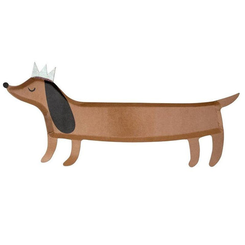 Meri Meri UK Paper Platter Set - Sausage Dog - Tea Pea Home