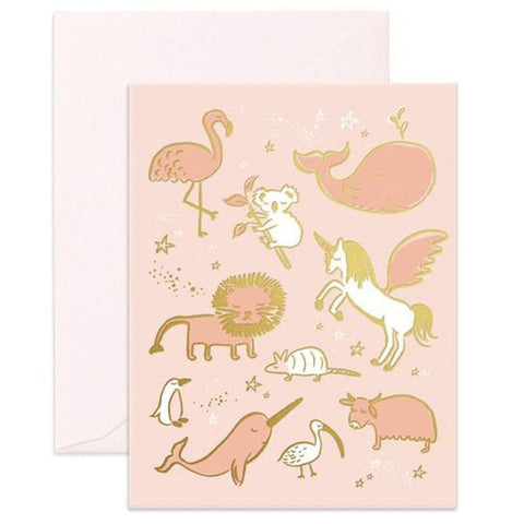Fox & Fallow Card - Magical Baby Animals - Tea Pea