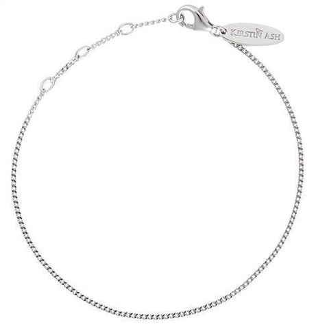 Kirstin Ash Bespoke Adjustable Curb Bracelet - Sterling Silver - Tea Pea