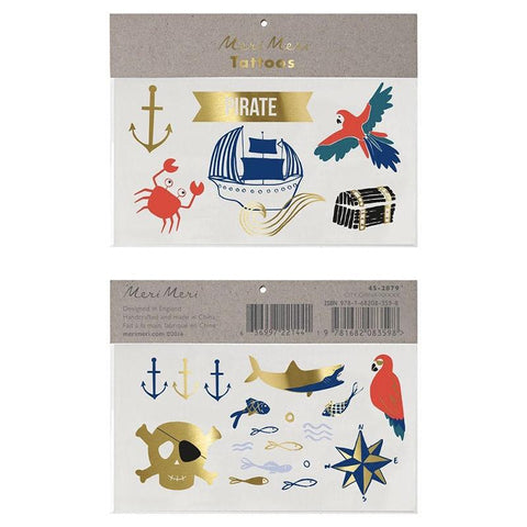 Meri Meri UK Temporary Tattoo Set - Pirate's Bounty - Tea Pea Home