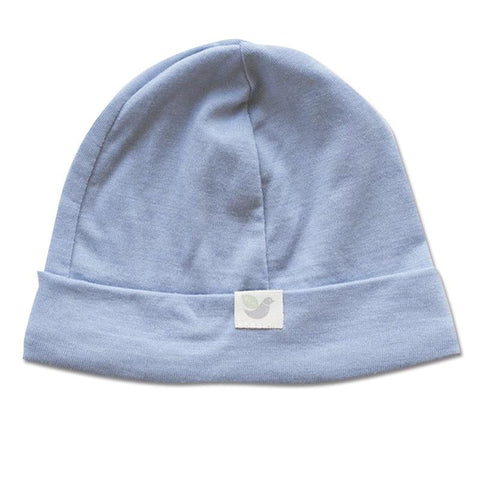 Roots & Wings NZ Organic Merino Beanie - North Sea Blue - Tea Pea