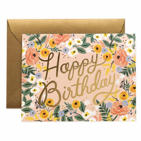 Rifle Paper US Card - Rose Birthday - Tea Pea Home