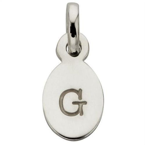 Kirstin Ash Bespoke Oval Initials - Sterling Silver - Tea Pea