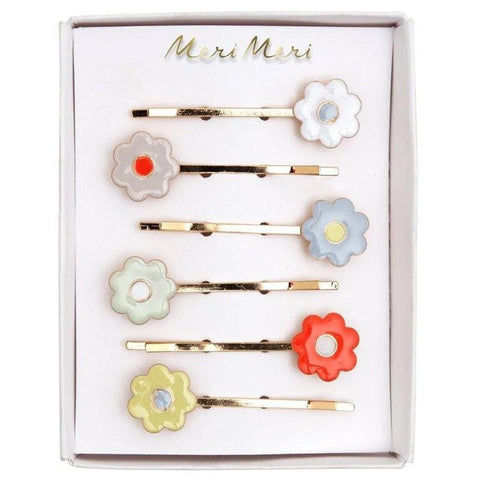 Meri Meri UK Hair Slides - Enamel Daisy - Tea Pea Home