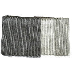 Bianca Lorenne Knitted Cotton Wash Cloth Set - Lavette Grey - Tea Pea Home