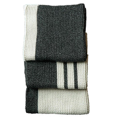 Bianca Lorenne Knitted Cotton Wash Cloth Set - Pannello Graphite - Tea Pea Home