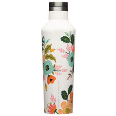 Corkickle X Rifle Paper Canteen - Cream Lively Floral - Tea Pea Home