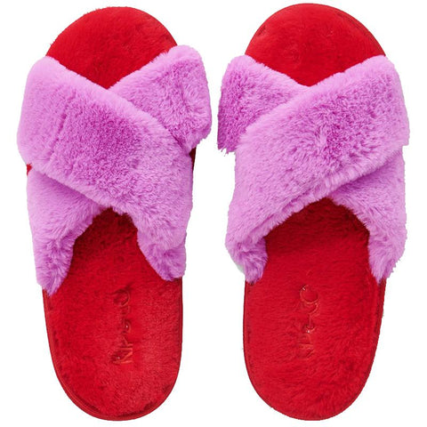 Kip & Co Adult Slippers - Raspberry Bubble - Tea Pea Home