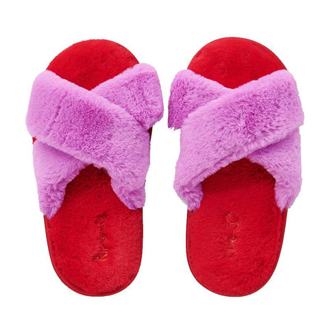 Kip & Co Kid's Slippers - Raspberry Bubble - Tea Pea Home
