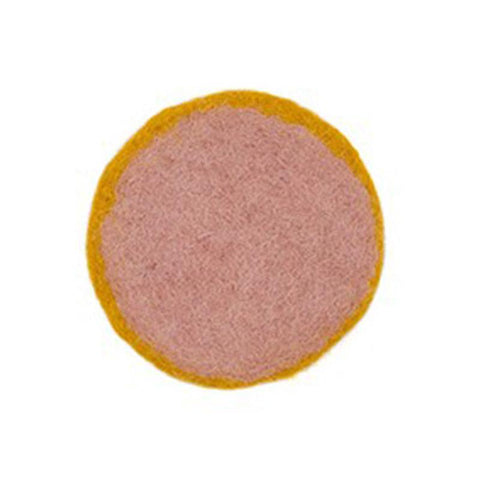 Muskhane France Felt Coasters - Bicolour Round - Tea Pea Home