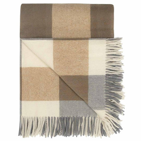 Opito New Zealand Wool Throw Blankets & Throws Weave Caramel