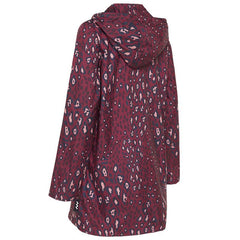 Paqme Women's 3/4 Jacket Raincoat - Pink Leopard - Tea Pea Home