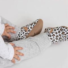 Pretty Brave Slip-On - White Leopard - Tea Pea Home